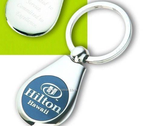 Teardrop Split Key Ring W/ 3d Image