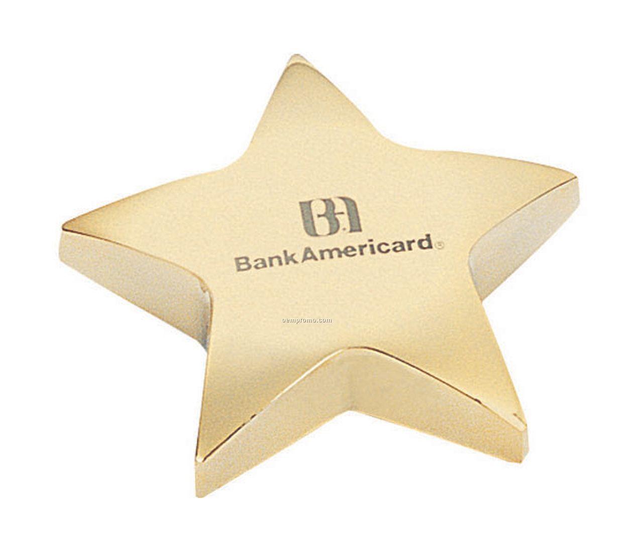 Brass Star Paperweight