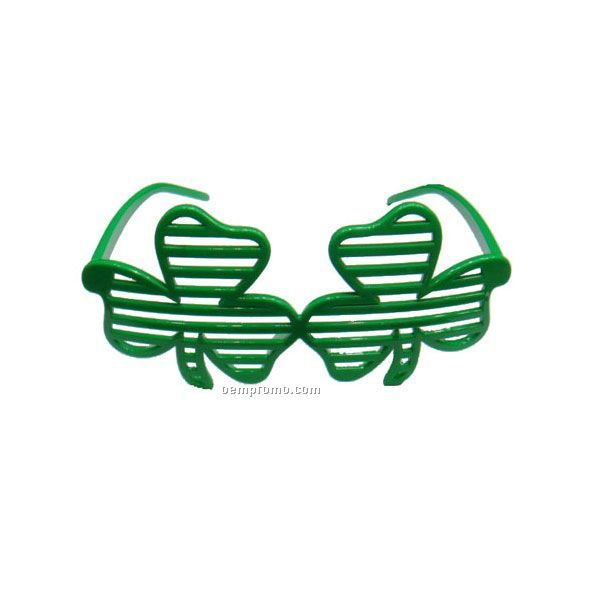 Shamrock Shaped Party Glasses.