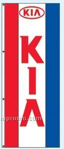 Single Face Dealer Rotator Drape Flags - Kia