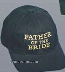 Brushed Cotton Twill Pro Style Cap W/ Father Of The Bride