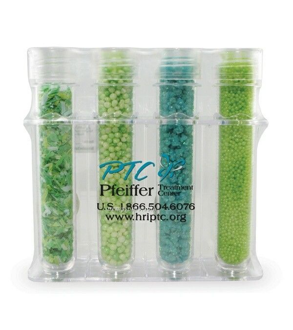 Green Bath Test Tube - Peppermint Scent