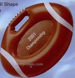 "Inflatable Football Shape Stadium Cushion W/ Handle / 15"""