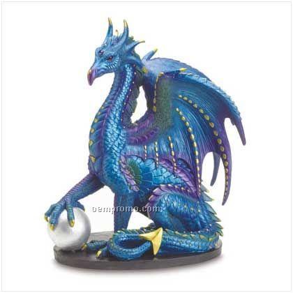 Large Blue Dragon Statue