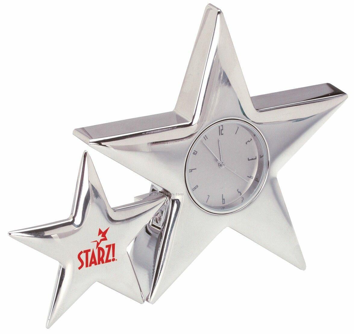 """Metal Star Clock (5"""" Long)"""