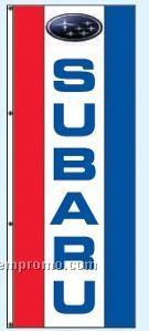 Single Face Dealer Rotator Drape Flags - Subaru