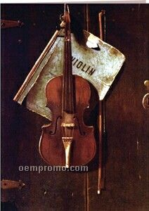 Classic Art Violin Thank You Note
