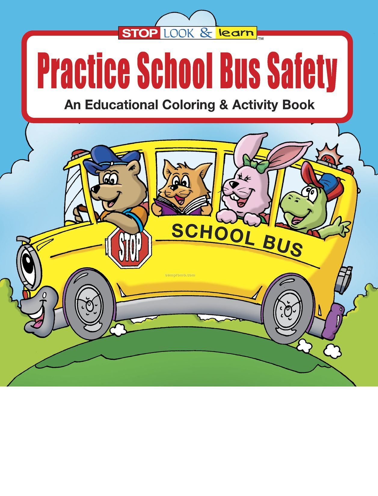 Practice School Bus Safety Coloring Book Fun Pack