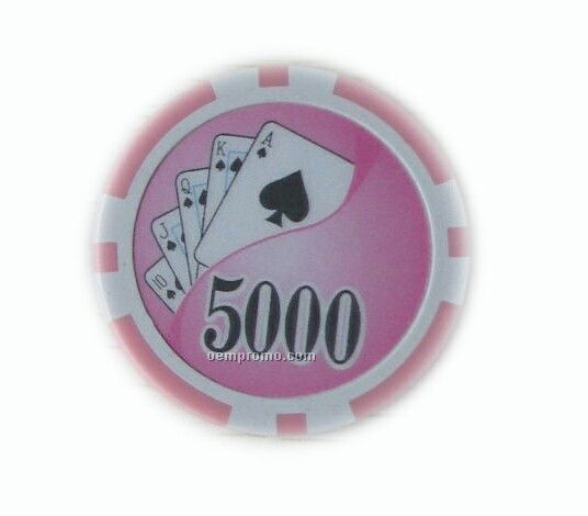 Round Plastic Poker Chips