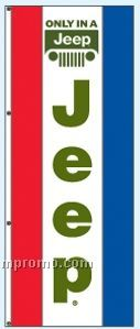 Single Face Dealer Rotator Drape Flags - Only In A Jeep
