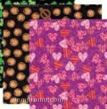 All Over Glow Pumpkin Stock Design Poly/ Cotton Bandanna (Unimprinted)