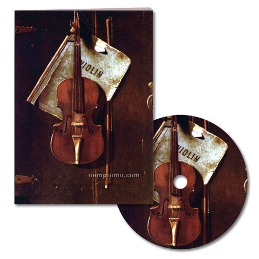 Classic Art Violin Thank You Note With Matching CD
