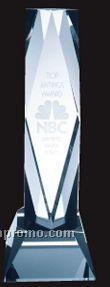 Small Optical Crystal President Tower W/ Base Award