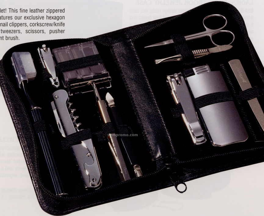 Travel & Groom Kit With Razor & Nail Clippers