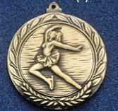 """1.5"""" Stock Cast Medallion (Figure Skate/ Female)"""