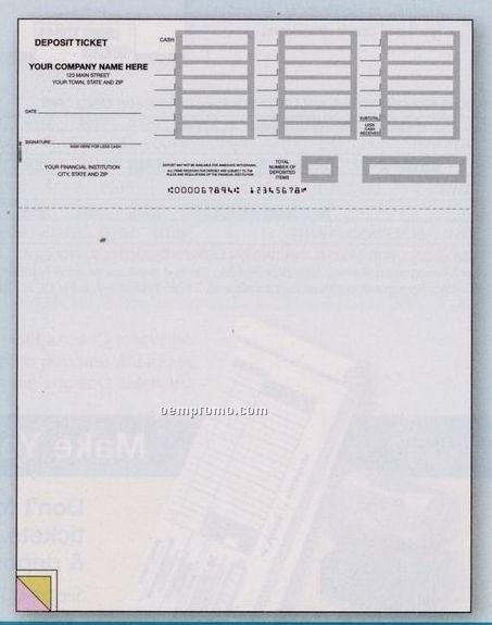 Laser Deposit Ticket (1 Part)