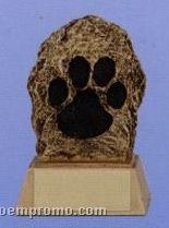 "Paw Print Mascot Sculpture Award W/ Gold Base (4"")"