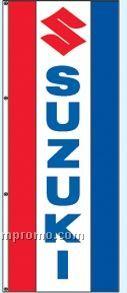 Single Face Dealer Rotator Drape Flags - Suzuki