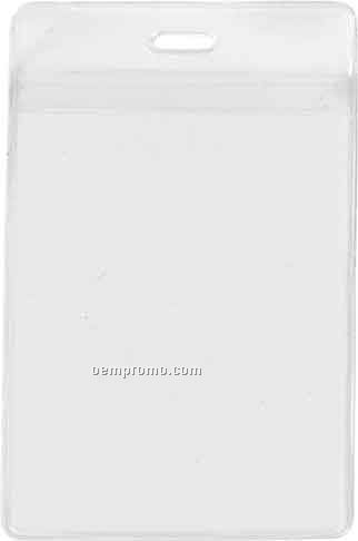 """1 Pocket Credential Ticket Holder W/ Slot / Chain Holes - 5-5/4""""X 3- 3/8"""""""