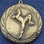 """2.5"""" Stock Cast Medallion (Figure Skater/ Male)"""