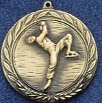 "2.5"" Stock Cast Medallion (Figure Skater/ Male)"