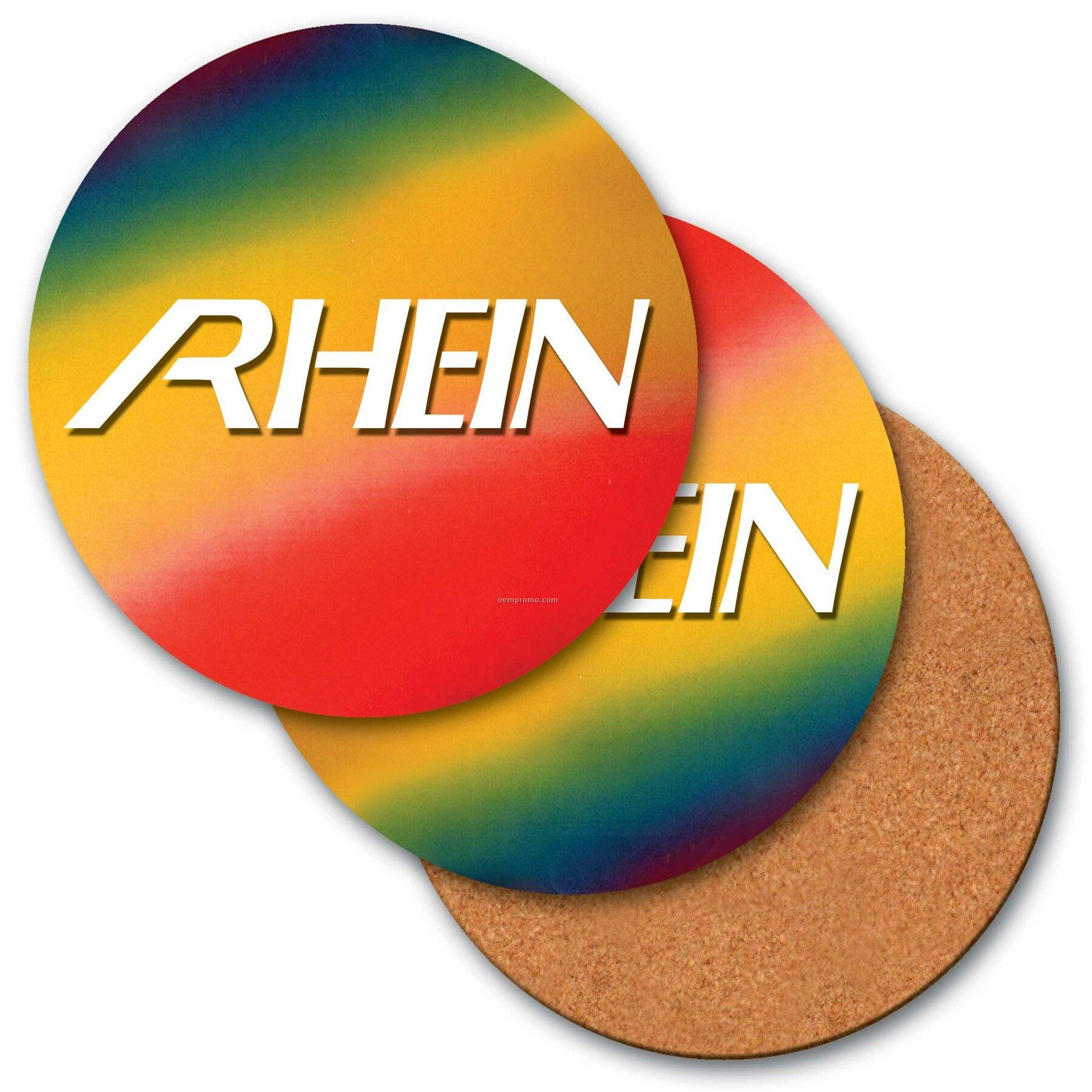 """4"""" Round Coaster W/3d Lenticular Changing Colors Effects (Custom)"""