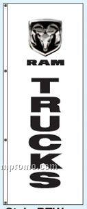 Single Face Dealer Rotator Drape Flags - Ram Trucks