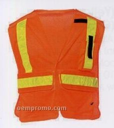 Yellow Premium Public Service Safety Vests (5xl) Blank
