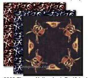 Flames Stock Design Poly/ Cotton Bandanna (Screen Printed)