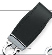 Sassari Black Leatherette USB Flash Drive (8 Gb)