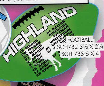 "Schedule Magnet - 3-1/2""X2-1/4"" Football"