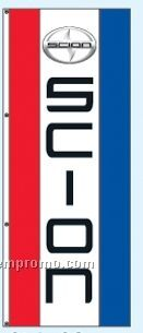 Single Face Dealer Rotator Drape Flags - Scion
