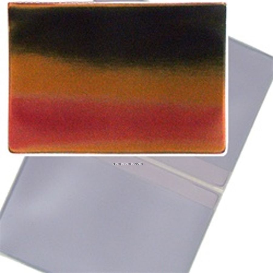 3d Lenticular Business Card Holder (Red/Yellow/Black)