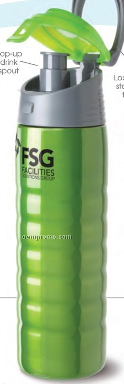 Hydration Stainless Steel Cascade Sports Bottle