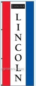 Single Face Dealer Rotator Drape Flags - Lincoln