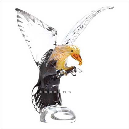 Art Glass Eagle Statue