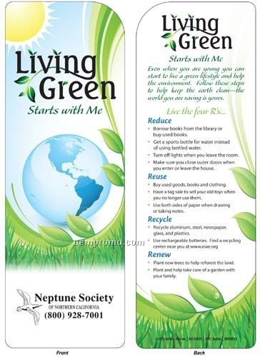 Bookmark - Living Green Starts W/Me