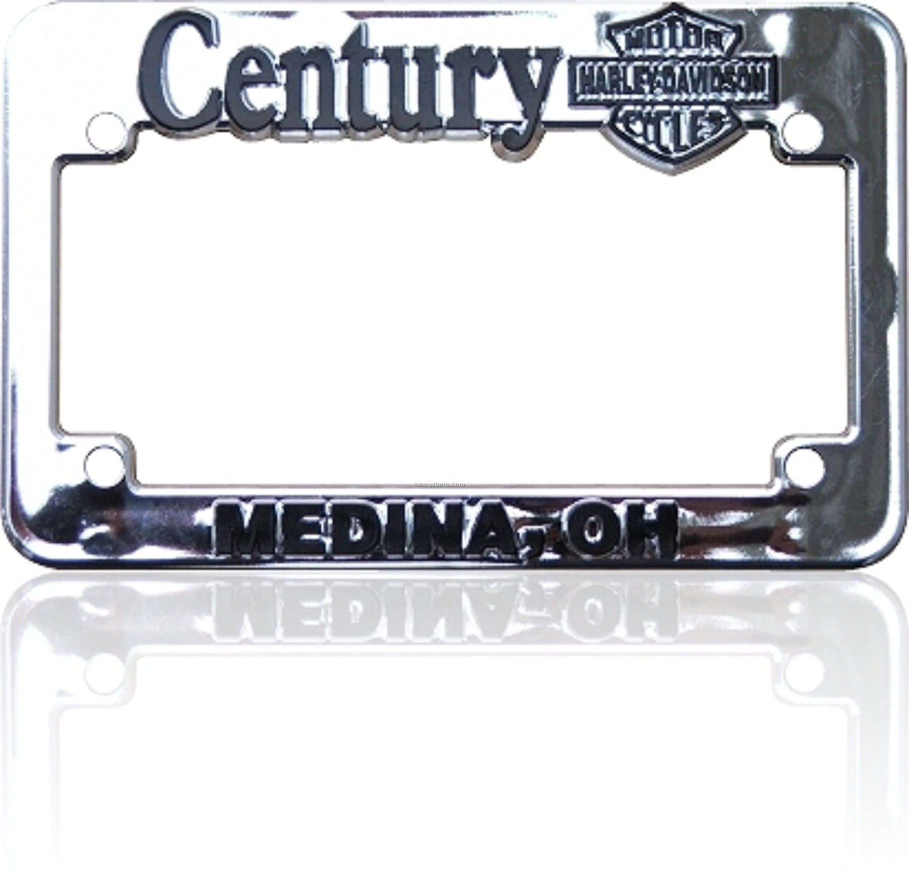 Chrome Motorcycle License Plate Frame With Raised Letters