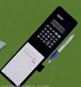 Dual Power Calculator W/ Pen & Memo Pad
