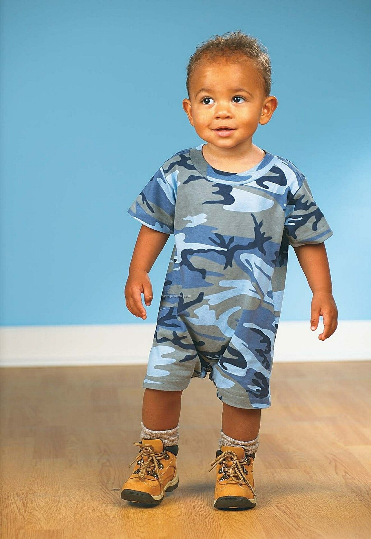 Infant Jersey Camouflage T-romper