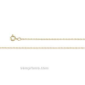 """Ladies' 7"""" 14ky 3/4mm Lasered Titan Gold Rope Chain Bracelet"""