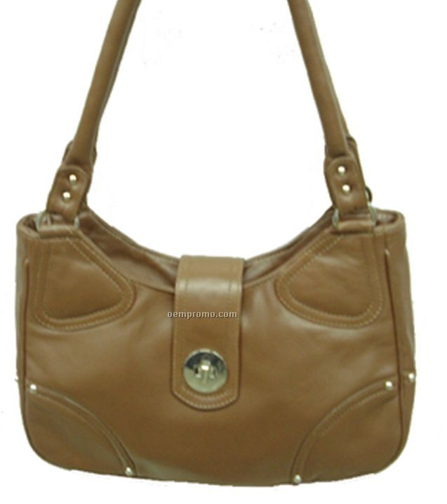 Leather Sheep Nappa Purse - Camel Beige