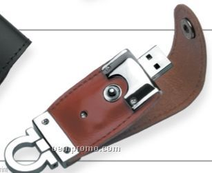 Sassari Brown Leatherette USB Flash Drive (1 Gb)
