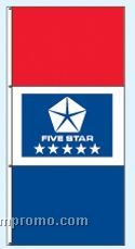 Stock Double Face Dealer Rotator Drape Flags - Five Star Blue