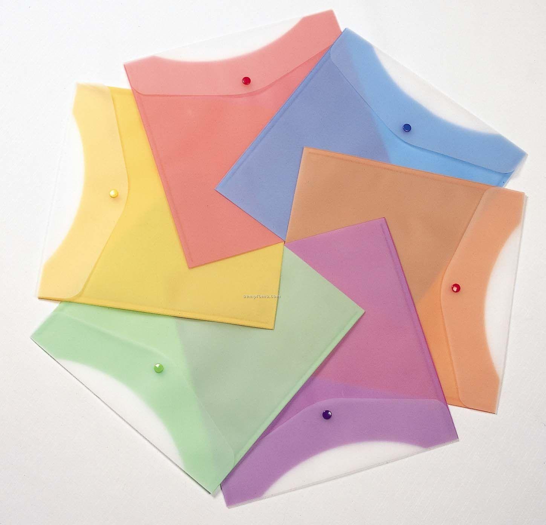 Tangerine Orange Scrap Paper Poly Envelope