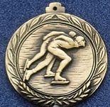 "1.5"" Stock Cast Medallion (Speed Skating/ Male)"