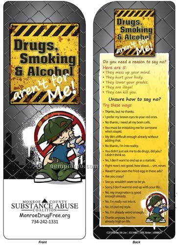 Bookmark - Drugs, Smoking & Alcohol Aren't For Me!