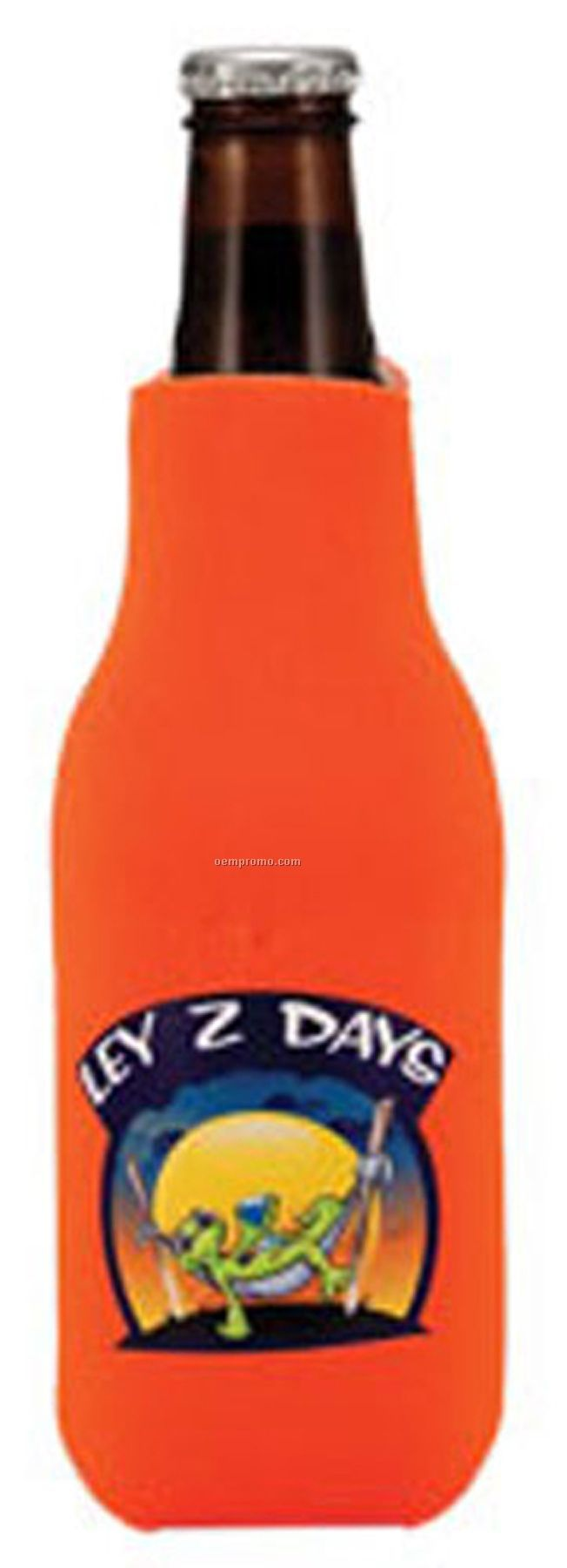 Foamzone Zippered Bottle Cooler W/Full Palette Color