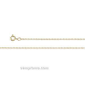 "Ladies' 7"" 14kw 3/4mm Lasered Titan Gold Rope Chain Bracelet"