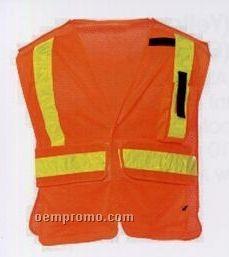 Orange Premium Public Service Safety Vests (3xl-4xl) Blank